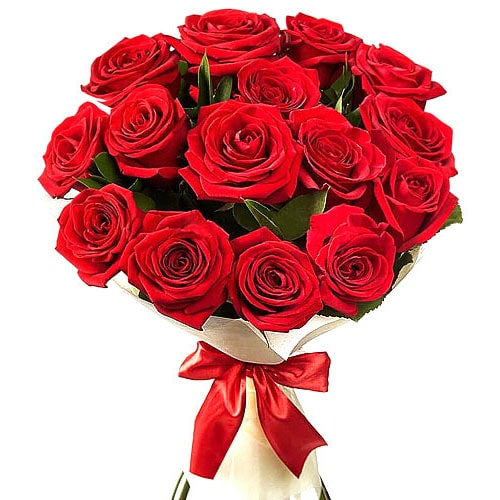 Pristine 12 Red Roses Bouquet