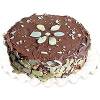 Delightful Chocolate Almond Cake