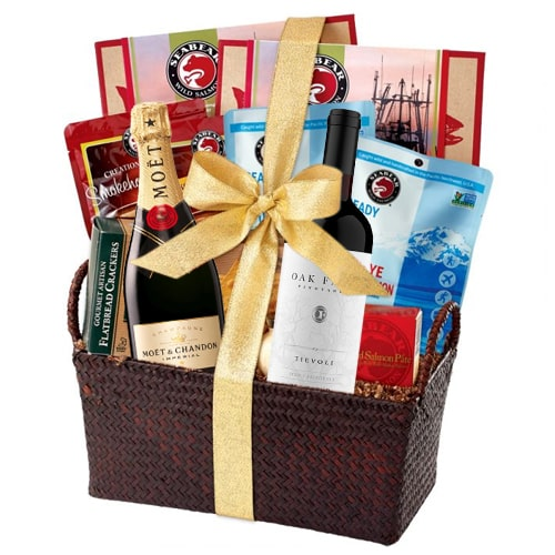 Exciting Gourmet Hamper with Champagne - Large