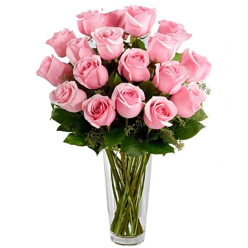 Send Pink Roses Arrangement To Japan